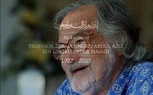 Prof Diraja Ungku Aziz meninggal dunia