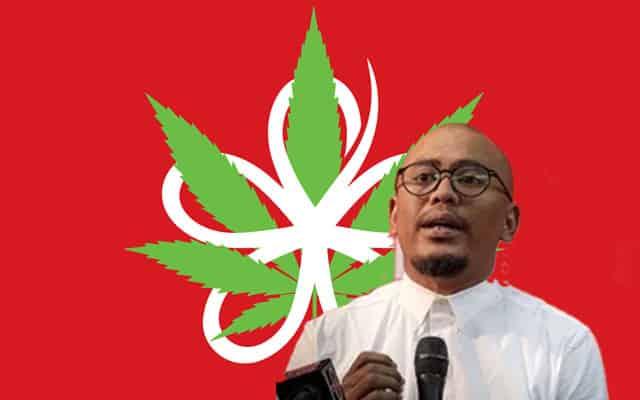 Pemimpin Bersatu hormati karya logo Bersatu disulami daun ganja oleh Fahmi Reza
