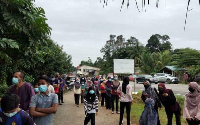 Gempar !!! Satu kampung kena jalani swab test Covid-19 di Kelantan