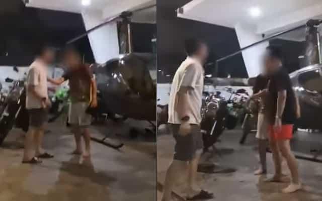Parking helikopter depan rumah, Datuk dengan Datuk Seri bergaduh tak puas hati