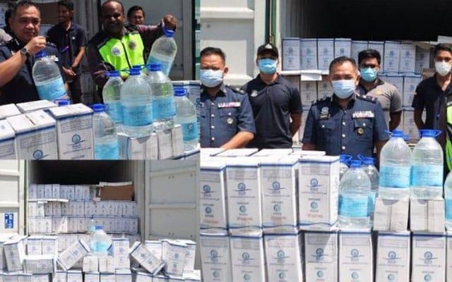 25000 liter air zam-zam seludup dirampas Kastam