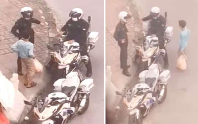 Viral video Tik Tok polis bantu kanak-kanak penjual keropok