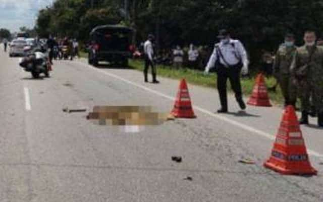 Bas bawa banduan gilis anggota tentera di Kelantan